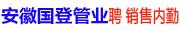安徽国登管业科技有限公司招聘信息