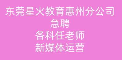 东莞市星火教育科技有限公司惠州分公司