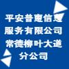 平安普惠信息服务有限公司常德柳叶大道分公司